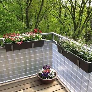 Balkon Windschutz Kunststoff : sichtschutzzaun pvc kunststoff montageset sunline transparent sichtschutz ~ Sanjose-hotels-ca.com Haus und Dekorationen