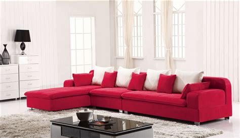red and white sofa lizz furniture sectional fabric l shape corner sofa red