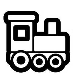 Toy Train Clip Art Black and White