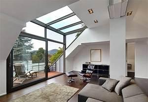 Bilder Modern Wohnzimmer : dachgeschoss mit glasgaube wohnzimmer von architekturb ro lehnen in 2019 einrichtung ~ Orissabook.com Haus und Dekorationen