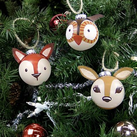 painted woodland ornaments project  decoart