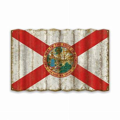 Florida Flag State Corrugated Signs