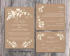 diy lace wedding invitation template set editable word With free printable vintage lace wedding invitations