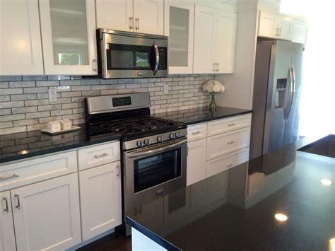 granite countertops white cabinets home ideas