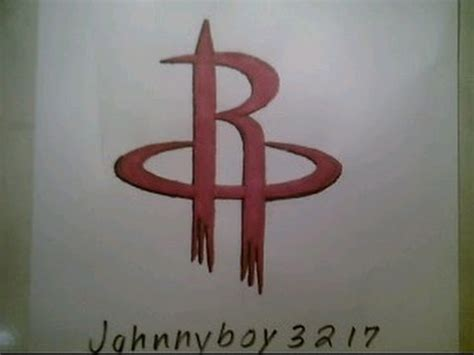 draw houston rockets logo sign nba playoffs easy