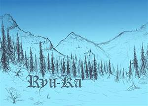 Snowy Mountain Scenery WIP by Ryu-Ka on DeviantArt