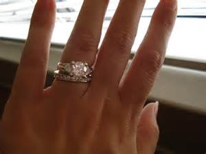 engagement ring and wedding band placement 3 - Wedding Ring Placement