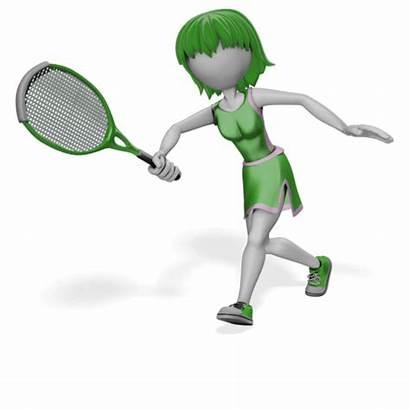 Seniors Exercise Activities Tennis Stick Woman