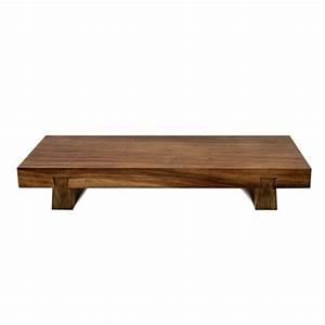 Table Basse Bois Exotique : table basse en bois brut et exotique pour plus de cachet ~ Dode.kayakingforconservation.com Idées de Décoration
