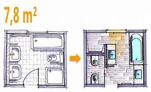 Kleine Bäder Grundrisse : badplanung beispiel 7 8 qm modernes komplettbad mit ~ Lizthompson.info Haus und Dekorationen