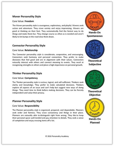 true colors personality test printable personality colors test 4 personality colors pictures to
