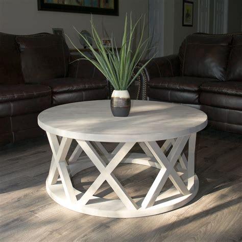 rustic  brace coffee table