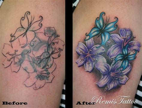 remistattoocom gallery tattoo gallery cover ups flowers