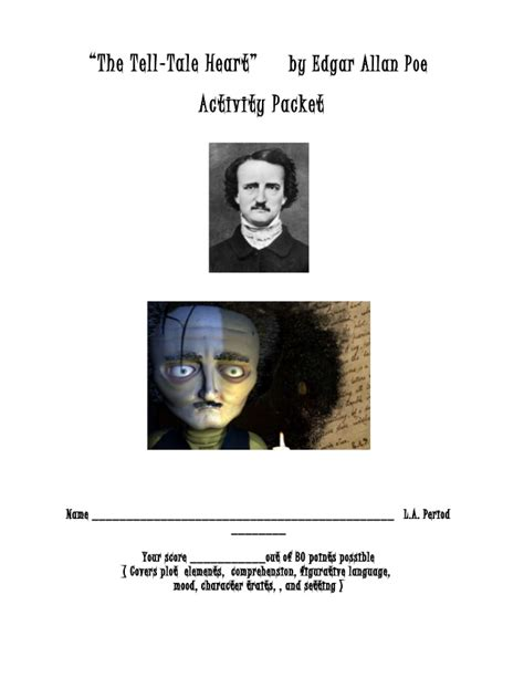 tale heart activity packet