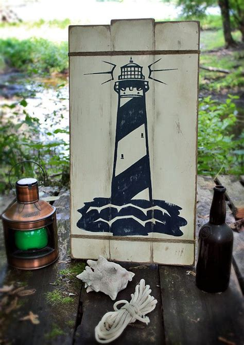 rustic wooden sign lighthouse nautical decor signs lighthouse decor nautical signs