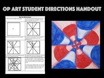 printable op art student directions handout  meghcallie