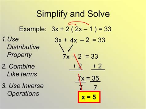 solve multi step equations ppt