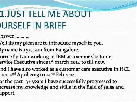 Tell Me About Yourself That Is Not In Your Resume by Tell Me Something About Yourself In Brief How To Avoid
