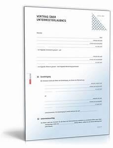 Untermieterlaubnis rechtssicheres muster zum download for Auftragsbest u00e4tigung vorlage kostenlos