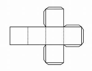 pattern for hexahedron clipart etc With 3 dimensional cube template
