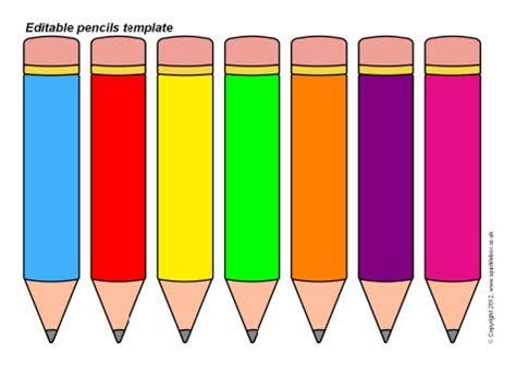 editable pencils template  classroom printables