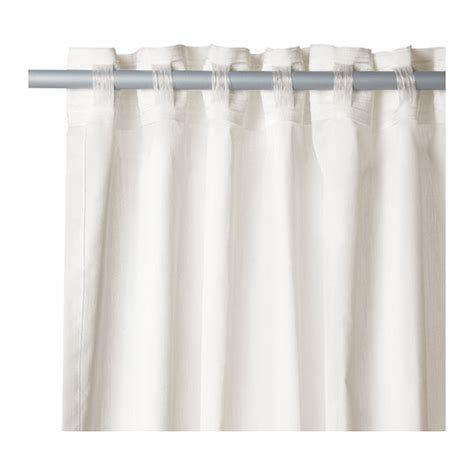 ikea pair of white curtains light diffusing sheer plain