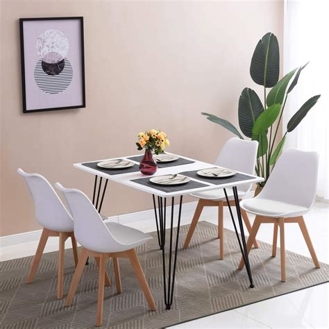 dining table  dining chairs retro solid wood