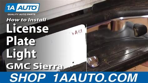install replace license plate light gmc sierra chevy silverado tahoe yukon aautocom