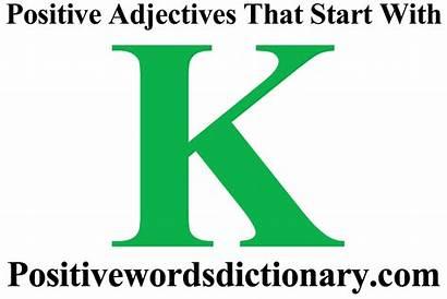 Adjectives Positive Words Start Verbs Starting Letter