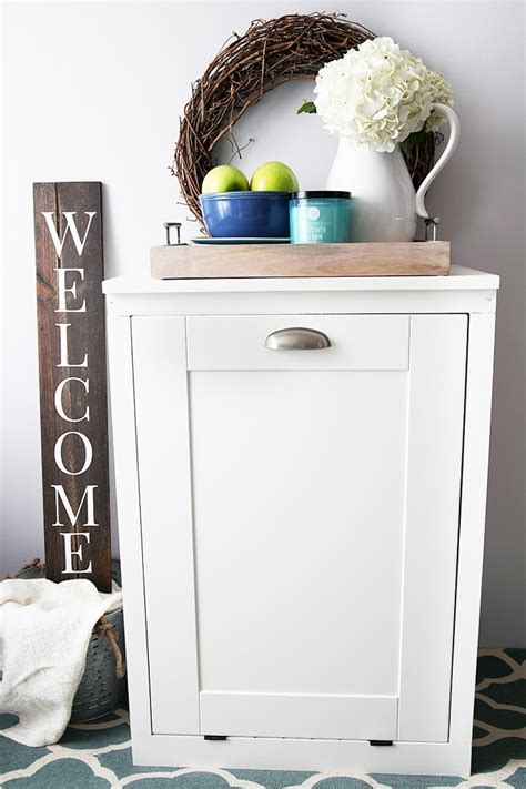 Cabinet Garbage Cans by How To Build A Custom Tilt Out Trash Cabinet Abby Lawson