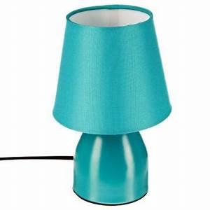 Lampe De Chevet Metal : lampe de chevet pied en m tal bleu turquoise bureau luminaire 12 cm h 19 5 ebay ~ Melissatoandfro.com Idées de Décoration