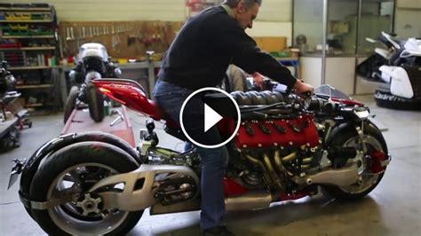 This Maserati V8-powered Motorcycle Has 4 Wheels
