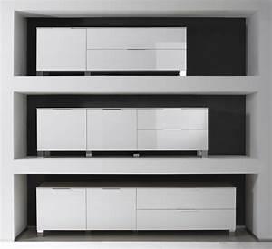 Meuble Bas Blanc Laqué : meuble bas long ~ Edinachiropracticcenter.com Idées de Décoration