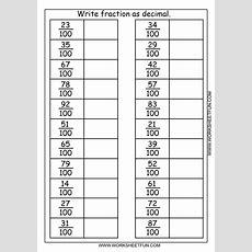 Write Fraction As Decimal  3 Worksheets  Free Printable Worksheets Worksheetfun