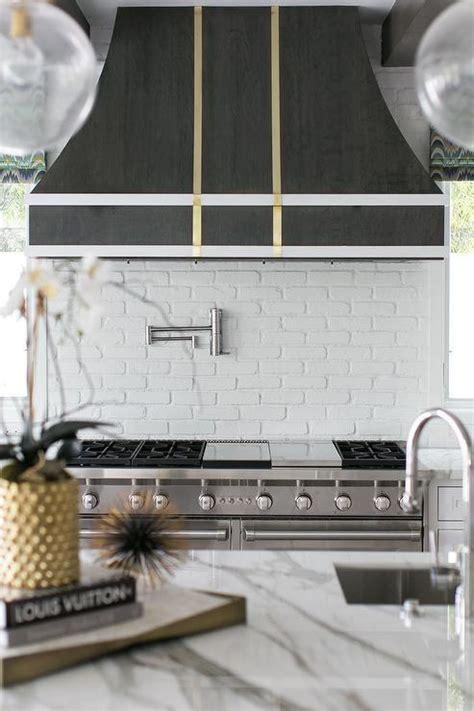 brass kitchen vent hood trim transitional kitchen
