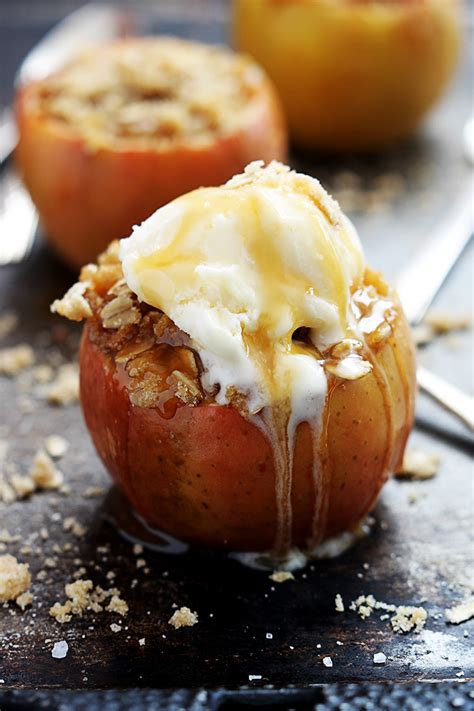 fall apple desserts apple crisp stuffed baked apples for fall make and takes