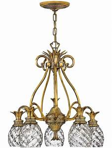 Antique Pineapple Chandelier  Plantation 5 Light
