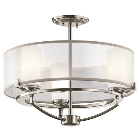kichler lighting 42923clp saldana 3 light semi flush