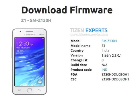 samsung z1 firmware software update available for india z130hddu0boh1 tizen experts