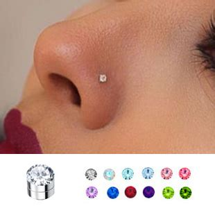 mm magnetic fake nose ear monroe stud