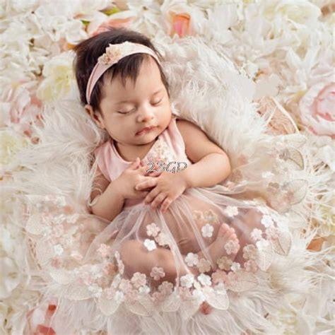 cute newborn baby girls tulle embroidery flower dress