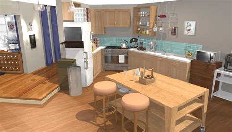 cuisine living the big theory apartment in 3d homebyme