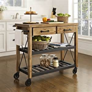 Rubber Bench Block by Roots Rack Rustic Kitchen Cart
