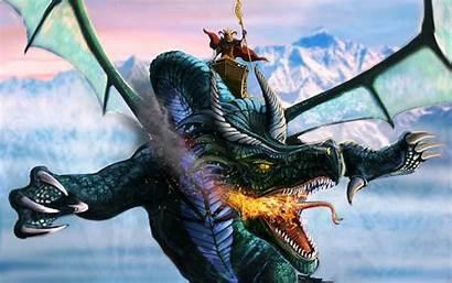Fire Flight Fantasy Dragons Wings Sky Warrior