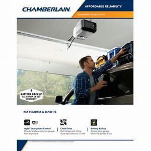 Chamberlain 1  2 Hp Equivalent Dc Chain Drive Wi