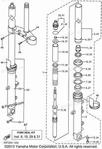 Yamaha Motorcycle 2001 Oem Parts Diagram For Front Fork