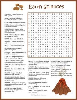 earth science word search word search puzzles science word search science words science