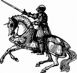 Knight Riding Horse Clipart - ClipartXtras