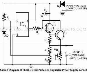 power supply circuit electronics projects With dc short circuit