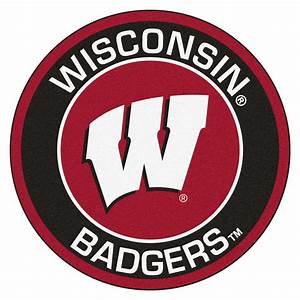 "University of Wisconsin Badgers Logo Roundel Mat - 27"""